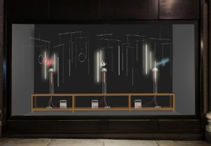 His latest installation revisits the work of Nikola Tesla on the wireless transmission of electricity.